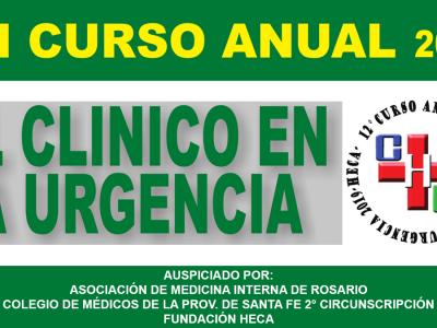 """XII° Curso """"El clínico en la urgencia"""""""