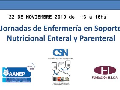 Jornada de Enfermería en Soporte Nutricional Enteral y Parenteral