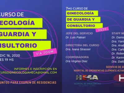 7° Curso de ginecología de guardia y consultorio