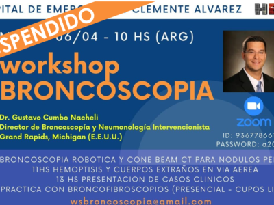 "Workshop ""Broncoscopia"" – ACTIVIDAD SUSPENDIDA"