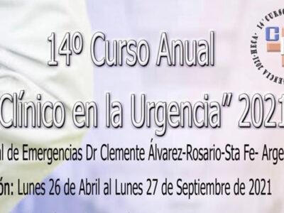 """14° Curso Anual """"El Clínico en la Urgencia"""" – Modalidad Virtual"""