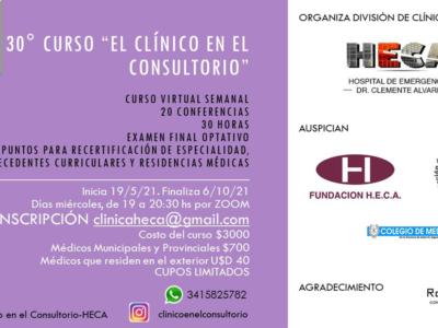 """30° Curso Anual """"El clínico en el consultorio"""" – Modalidad Virtual"""
